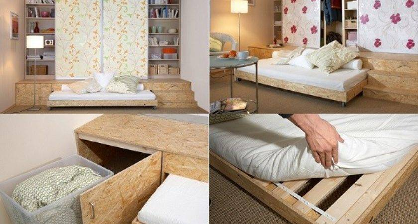 Practical Solution Small Apartments Hidden Bed Smiuchin