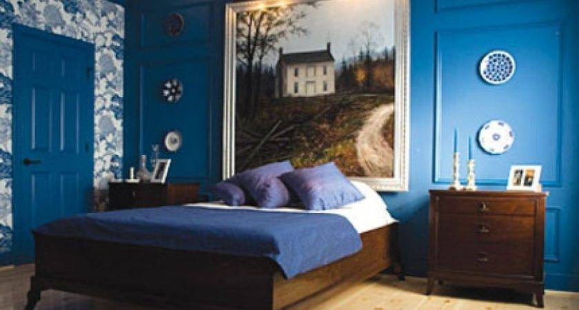 Pretty Natural Bed Ideas Come Royal Blue Wall