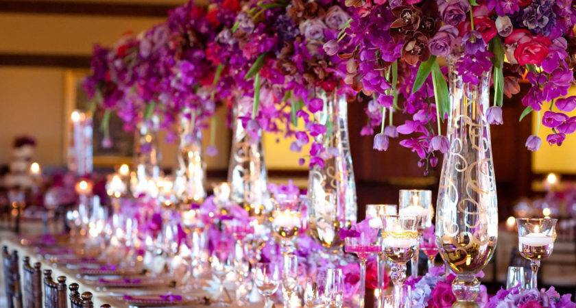 Purple Gold Table Decoration Photograph Gol