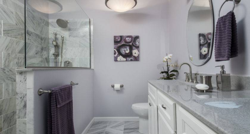 Purple Gray Bathroom Contemporary