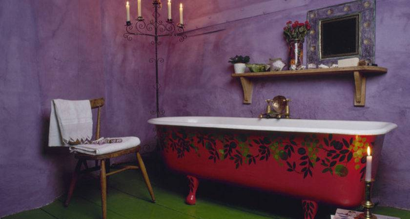 Purple Green Awesome Color Combo Bathroom