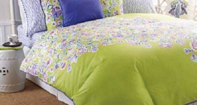 Purple Lime Green Bedding Reference