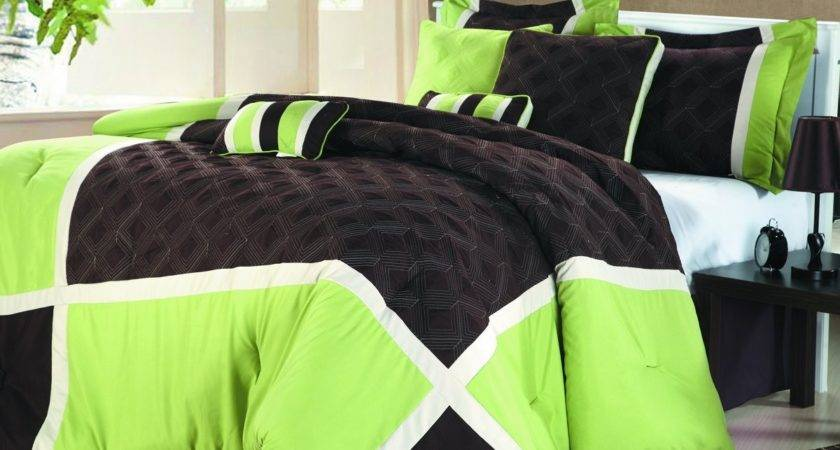 Purple Lime Green Bedding Sets