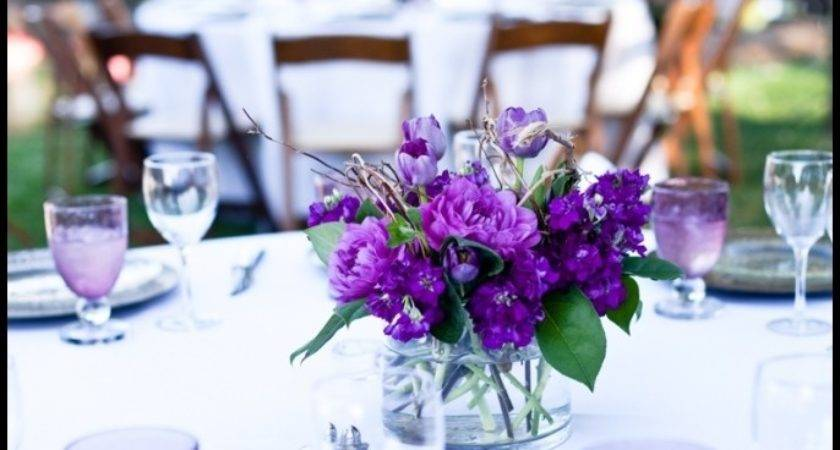 Purple Orange Wedding Table Decoration