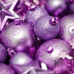 Purple Pink Christmas Ornaments