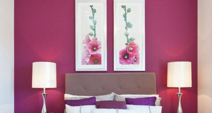 Purple Red White Bedroom Smart Home Designs