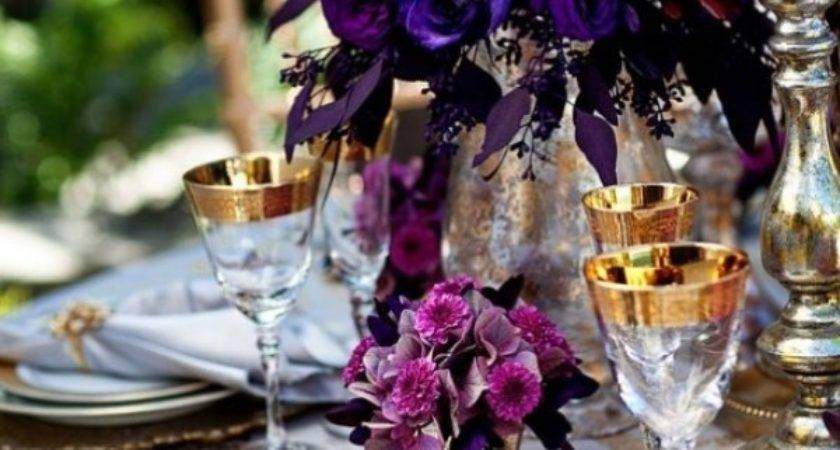 Purple Wedding Table Decor Architecture Interior Design