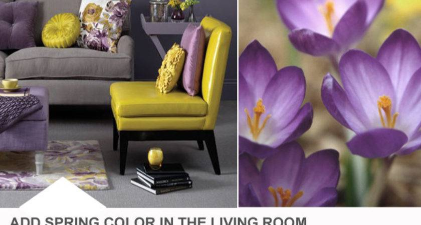 Purple Yellow Living Room Color Palette Hgtv Design