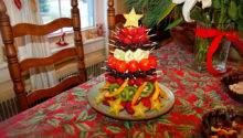 Queen Table Holiday Party Edible Fruit Christmas Tree