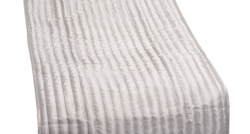 Quilted Taffeta Satin Look Bed Runner Catherine Lansfield