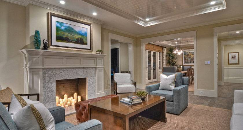 Ranch Style Home Transitional Coastal Interiors