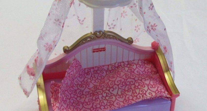 Rare Fisher Price Loving Dollhouse Girls Canopy Bed