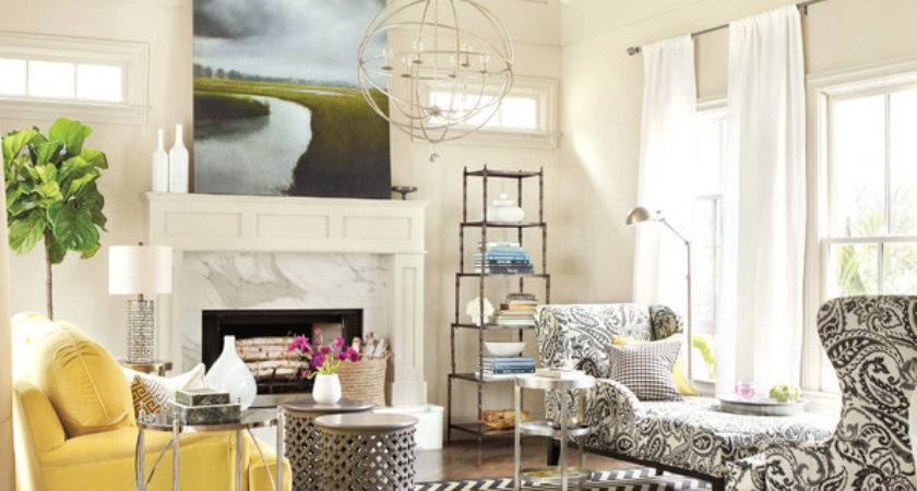 Real Simple Living Room Contemporary