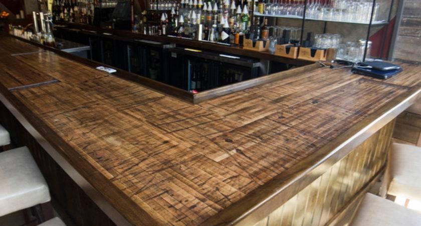 Reclaimed Boxcar Plank Bar Rustic Home