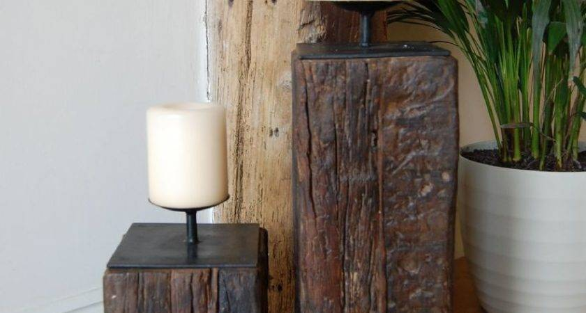 Reclaimed Wooden Candle Stands Katigi Designs