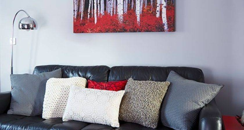 Red Black Grey Living Room Modern House