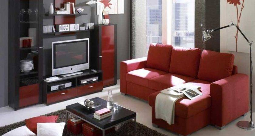 Red Black Living Room Decorating Ideas Modern House