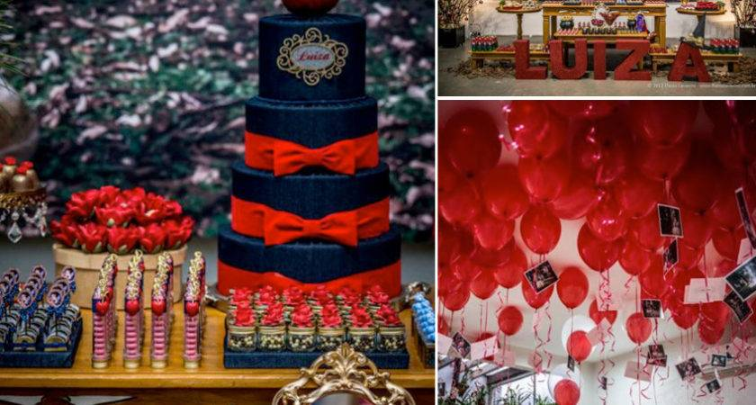 Red Black Themed Party Themes Inspiration