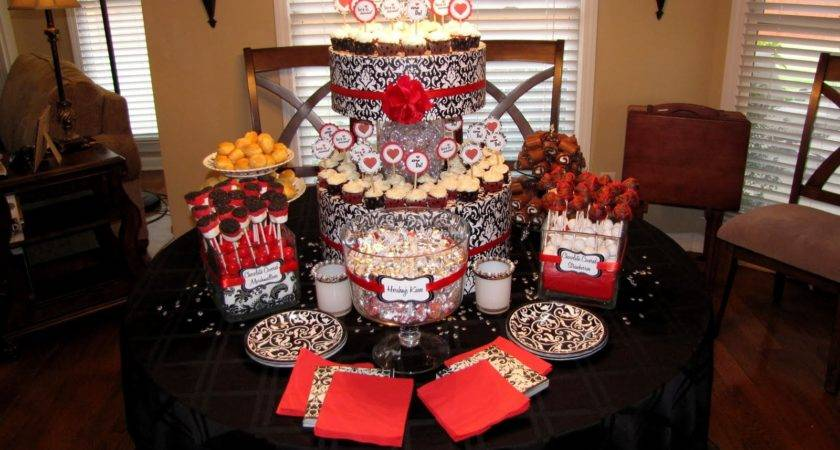 Red Black White Wedding Reference Decoration