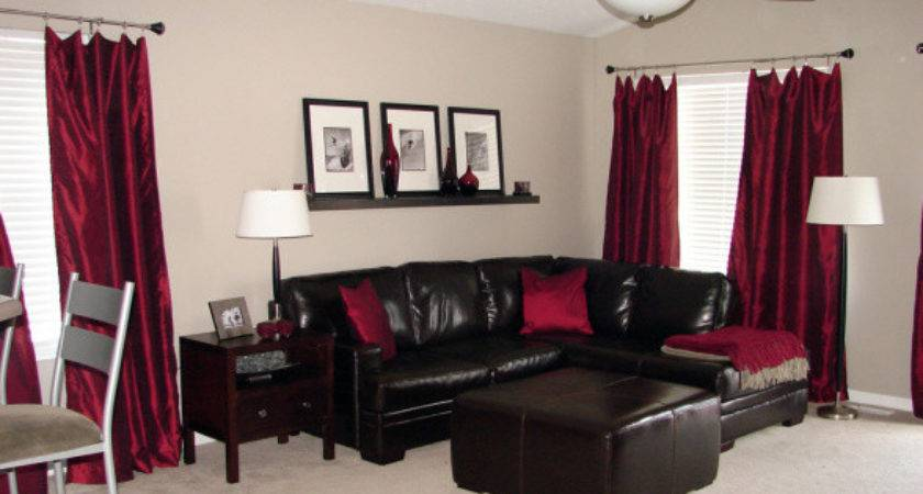 Red Brown Living Room Accessories