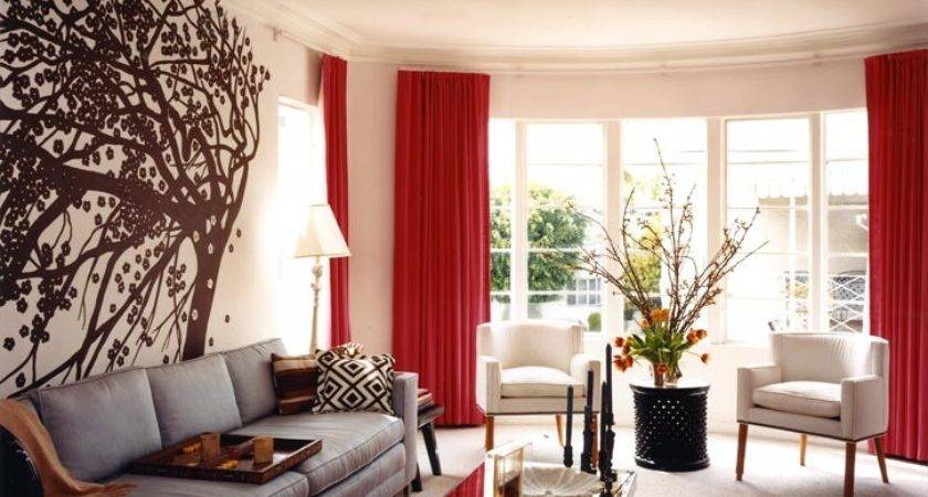 Red Brown Living Room Comfortable