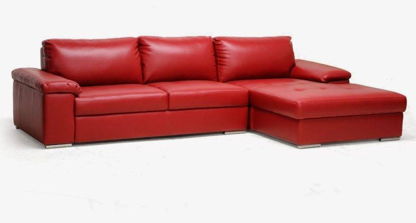 Red Couch Leather Sectional