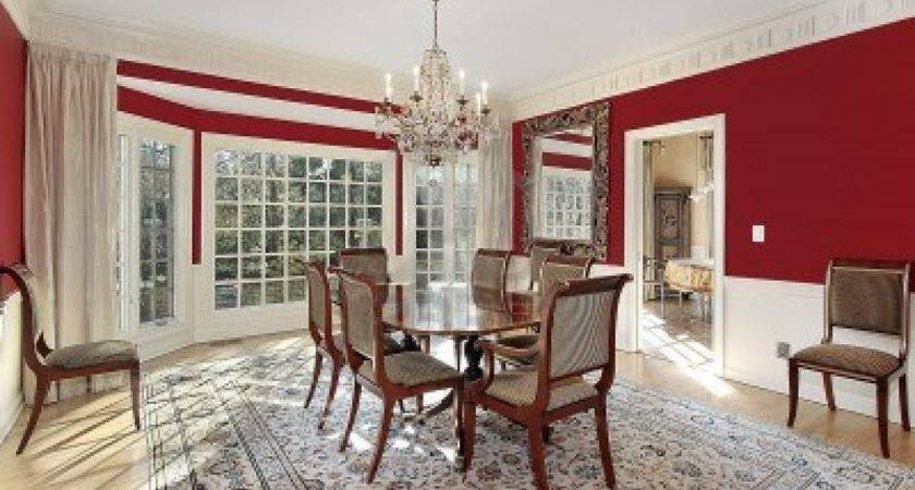 Red Dining Room Wall Decor Traditional
