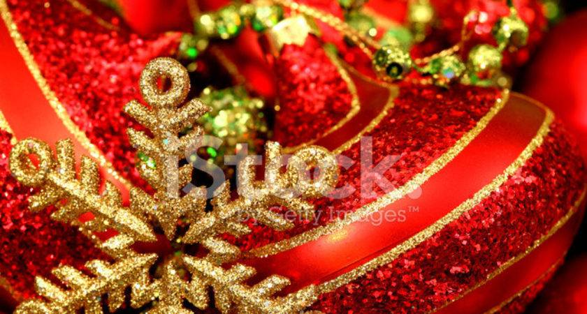 Red Gold Lime Green Christmas Decorations Photos