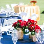 Red Gold Table Settings Events Gisele