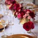 Red Gold Wedding Decor Theme
