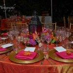 Red Gold Wedding Table Settings Siudy