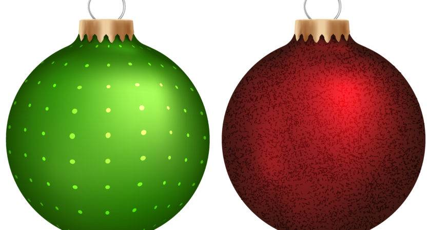 Red Green Christmas Ornaments Clipart
