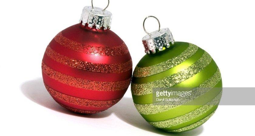 Red Green Christmas Ornaments Getty