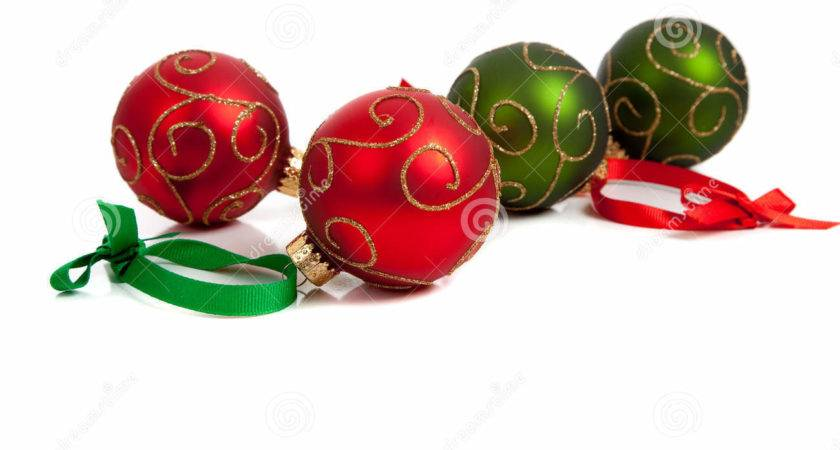 Red Green Christmas Ornaments White