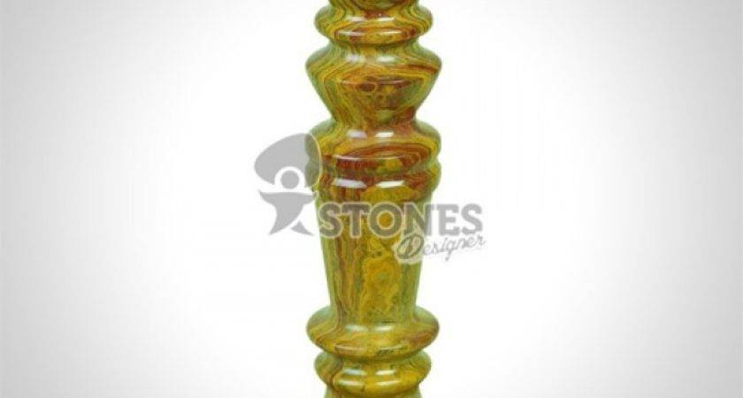 Red Multi Onyx Candle Holder Stone Marble