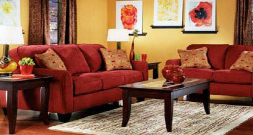 Red Rug Beige Couch Choosing Paint Color Living Room