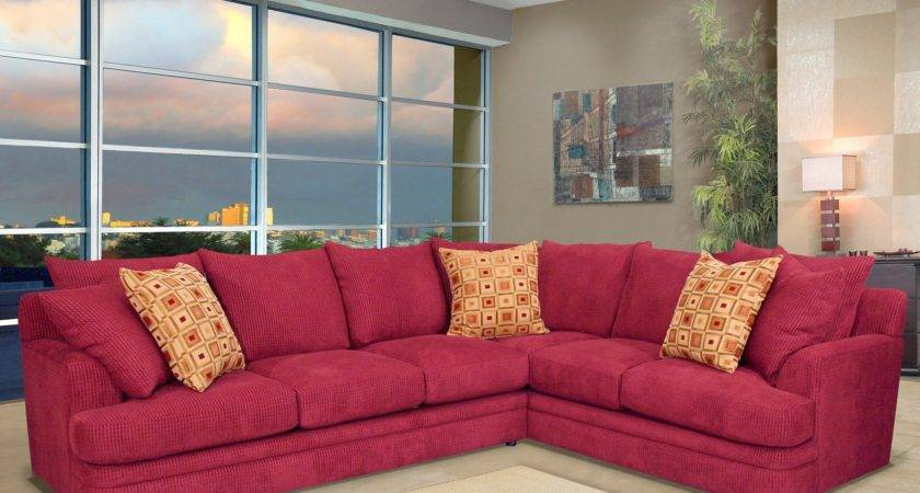 Red Sectional Living Room Ideas Modern Style Home Design