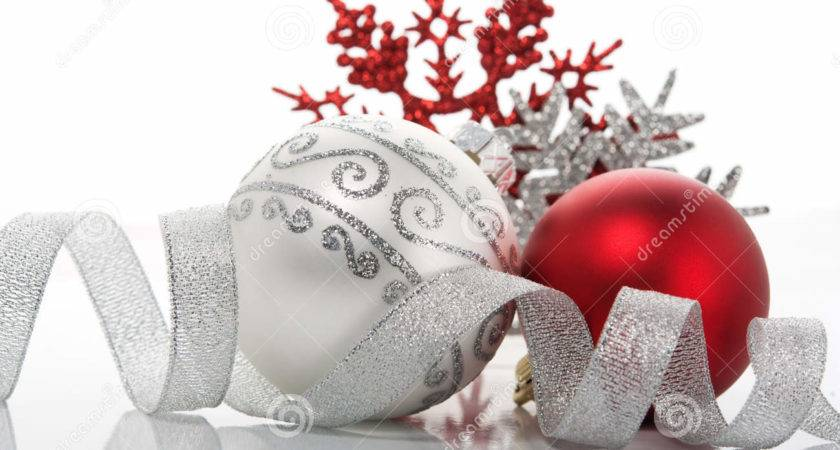 Red Silver Xmas Decoration