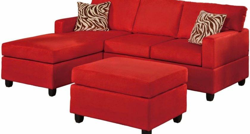 Red Sofa Chaise Gemma Modern Black Sectional