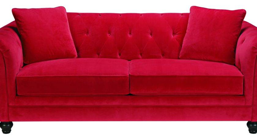 Red Sofa Warm Lovely Setting Furniture