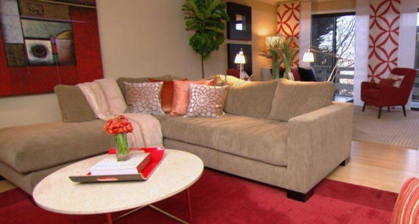 Red Tan Living Room Ideas