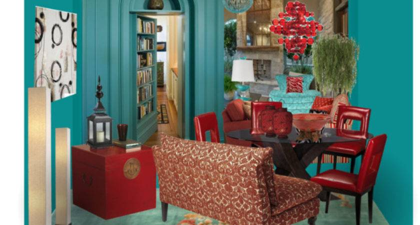 Red Turquoise Room Polyvore