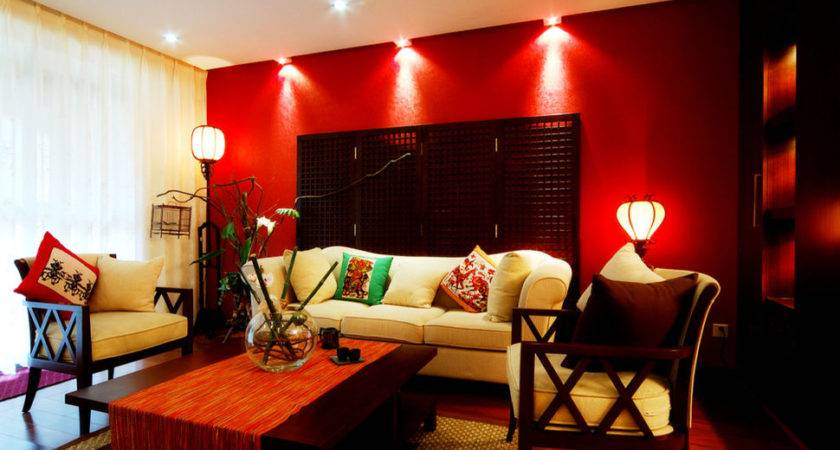Red Walls Living Room Colors Jive