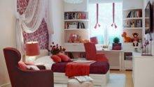 Red White Bedroom Decor Interior Design Ideas