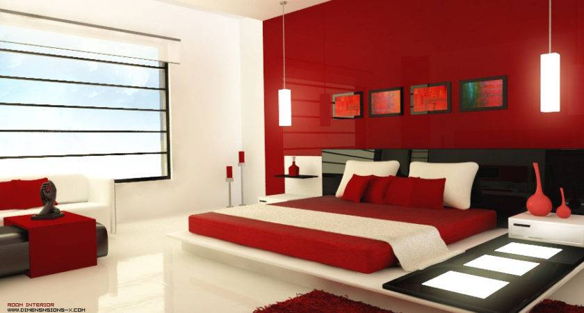 Red White Black Bedroom Pinterest