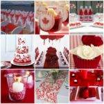 Red White Wedding Decorations Living Room Interior