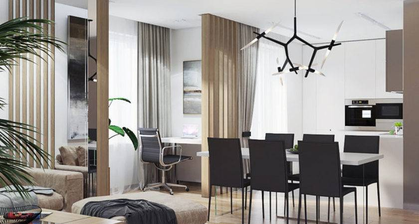 Relaxing Contemporary Style Apartment Beige