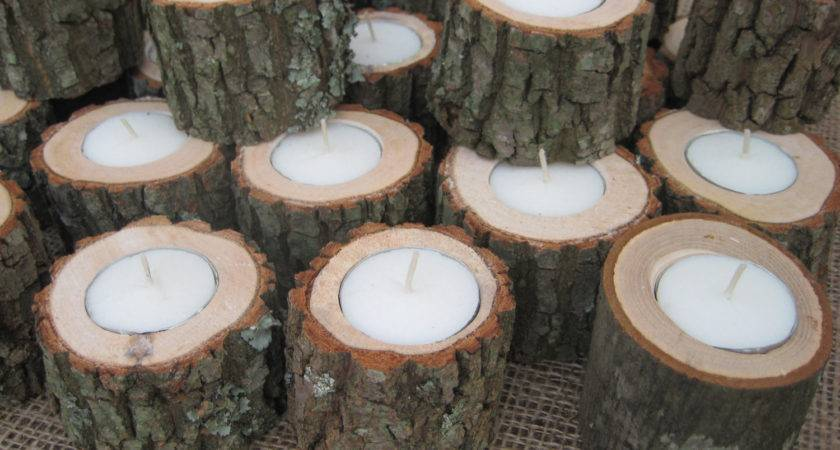 Reserved Kristin Hanson Log Candle Holders Tealights