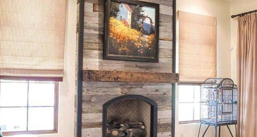 Result Reclaimed Wood Over Fireplace Ideas