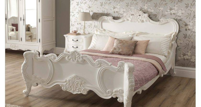 Rochelle Antique French Style Bed Shabby Chic Bedroom